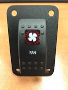 Fan Switch With Psc1 Panel Boat Rv V1d1 Black Carling Contura Ii 2 Red Lighted