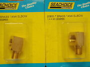 Fuel Fitting 90 Degree Elbow 1/4 Pipe Brass 20831 Pair Fuel Parts Boat Tank