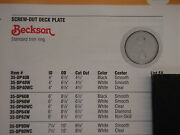 Deck Plate Clear Center Beckson Screw Out Twist 4id Dp40wc Read Specs Boat Part