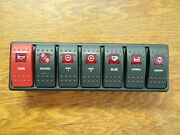 Switch Panel Carling Contura 7 Switches With Vms Vme Panel Boat Electrical 12v