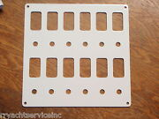Switch Panel White Psbc62wh Fits 12 Carling V-series Switch Bases And Breakers