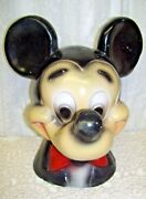 Antique Large Chalkware Mickey Mouse Bank