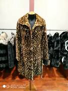 Real Mink Sheared Sections Coat Small