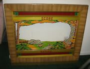 Antique 1940s Seeburg Shoot The Bear Arcade Game Coin Operated Front Door Panel