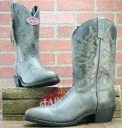 Laredo Menand039s Leather Leroy Grey Cowboy Approved Boots Brand New Size 10 D