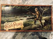 """A 1903 Mcloughlin Bros """"game Of Fish Pond"""" Board Game"""