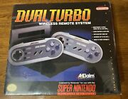 Snes Super Nintendo Dual Turbo Wireless Controllers Brand New Sealed Akklaim