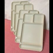 Vintage Tupperware Almond Cafeteria Serving Trays Divided 1535