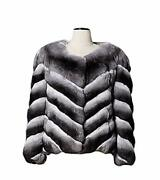 New Chinchilla Fur Jacket V Style Exclusive Model Top Quality Allsizes Available