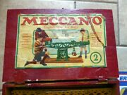 Extremely Rare Antique Meccano Erector Set No. 000 Wood Box Very Early Set Exc