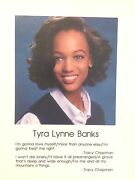 Tyra Banksand039 Personal 1991 Senior High School Yearbook Her Personally Owned Copy