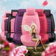 Luxury Seat Cover Pu Leather 5-seats Suv Cute Girl Front And Rear Cushion Colorful