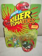 10189 Nfrc Vintage Mattel Attack Of The Killer Tomatoes Chad And Tomacho Figures