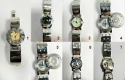 Steampunk Metal Unique Watches.lot Of 7. One Of Kindgearsvintageuniqueunisex