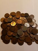 1 Pound Lb Bag Of Indian And Lincoln Wheat Pennies Cents Estate Coin Hoard