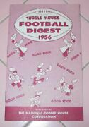1956 Toddle House College Football Digest Schedule Souvenir 295 Location 95 City