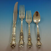 Meadow Rose By Wallace Sterling Silver Flatware Set Service 25 Pieces