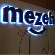 Custom 6and039and039 Lighted Sign Letters Exterior Advertising Logos Reverse Halo Backlit
