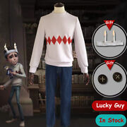 Game Identity V Lucky Fellow Cosplay Manand039s Uniform Costume Christmas Suit