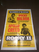 Rocky Ii 2 1979 Stallone Original Movie Poster Rematch Of The Century