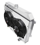 Sm Block Charger Radiator, Shroud, 2-12 Fans, Relay Kit And 3x10, Champion 3 Row