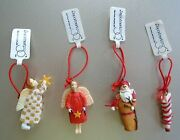 Vintage Department 56 Angels Santa Stocking Mini Christmas Ornaments With Tags