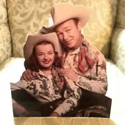 Roy Rogers And Dale Evans Western Figure Tabletop Display Standee 9 1/2 Tall