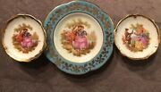 Miniature Limoges France Mini Plates Excellent Condition First Love 3 Sizes