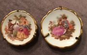 2 Miniature Limoges France Mini Plates Excellent Condition First Love Lovely
