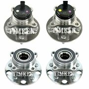 New Front And Rear Wheel Bearings And Hubs Kit Timken For Lexus Is F Rwd 2008-2013