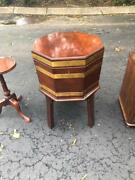 Antique Vintage Mahogany Wine Cooler Chest By Arthur Brett And Sons In England