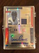 2004 Playoff Absolute Memorabilia Ernie Banks Autograph Jersey Ed 4/5 Cubs