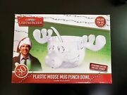 National Lampoonandrsquos Christmas Vacation Moose Mug Punch Bowl And Antlers 136 Oz New