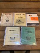 Lot Of 10 Oliver Tractor Parts Catalogs Operator Manual Plow 440 Corn Planter