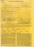 Toni Basil Signed Authentic Smothers Brothers Contract Beckett Q65753