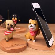 Puppy Character Cell Phone Holder Stand Desk Top Dog Shape Mobile Cute Interior