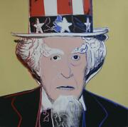 Andy Warhol Uncle Sam From Myths Portfolio 1981 Silkscreen With Diamond Dust