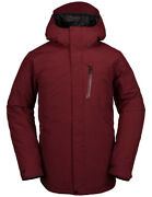 Volcom L Ins Gore-tex Snow Jacket In Burnt Red