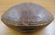 Rare 1935 Notre Dame Game Used Trophy Ball With 1935 Notre Dame College Yearbook