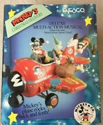 Enesco Mickey Mouse Christmas Delivery - Here Comes Santa Claus Musical Airplane