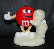 Department 56 Snowbabies Mandm's Candy Red Is My Favorite Color Figurine Retired