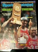 April 11, 1983 N.c. State Wolfpack Basketball Autographed Sports Illustrated