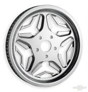 Chrome Speed Star Rear Drive Pulley 70 Tooth 1.125 Inch Belt Revtech Pm Harley