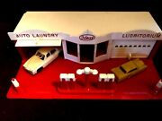 Ideal Toys Playset Gas Station-lubritorium Auto Laundry1950's