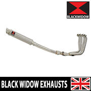 Yzf R1 98 - 01 Full Exhaust System + Gp Round Stainless Steel Muffler Sg35r