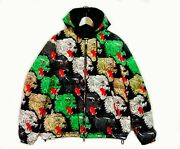 Panther Print Padded Hooded Jacket