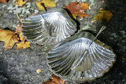 1913 Antique Silver Shell Dishes And Knives / Silver Shell Tray / Elegant / Rare