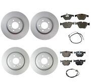 New Genuine Front And Rear Brake Kit Disc Rotors Pads Sensors For Bmw E90 E92