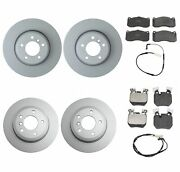 Genuine Front And Rear Brake Kit Disc Rotors Pads And Sensors For Bmw E82 E88 135i