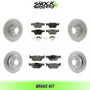 Front And Rear Ceramic Brake Pad And Coated Rotor Kit For 2007 Bmw 328xi